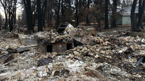 The Sinclaire family's house was destroyed in the Camp Fire.