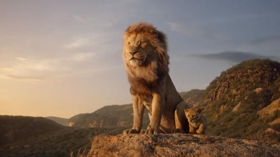 "James Earl Jones voices Mufasa and JD McCrary voices Young Simba in Disney's ""The Lion King,"" from director Jon Favreau."