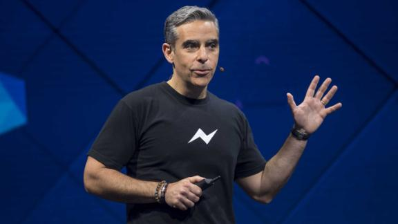 David Marcus, vice president of messaging products for Facebook Inc., speaks during the F8 Developer Conference in San Jose, California, U.S., on Tuesday, April 18, 2017. During his keynote, Facebook CEO Mark Zuckerberg laid out his strategy for augmented reality, saying the social network will use smartphone cameras to overlay virtual items on the real world rather than waiting for AR glasses to be technically possible. Photographer: David Paul Morris/Bloomberg via Getty Images