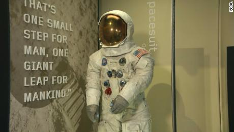 Neil Armstrong's Apollo 11 spacesuit unveiled