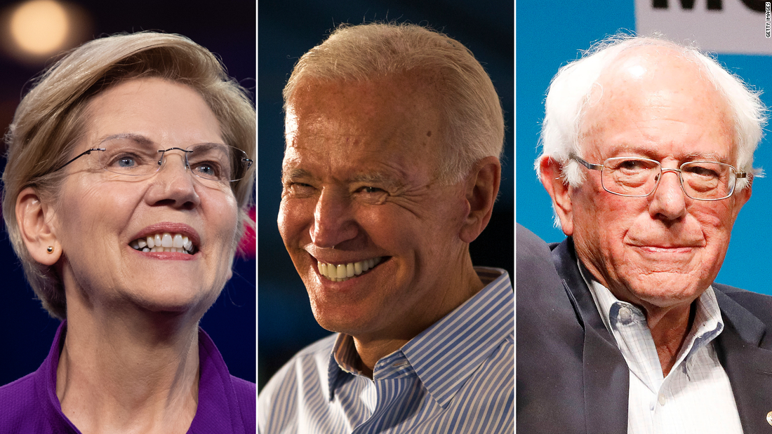 CNN Poll: Biden, Sanders and Warren top the 2020 Democratic field in New Hampshire