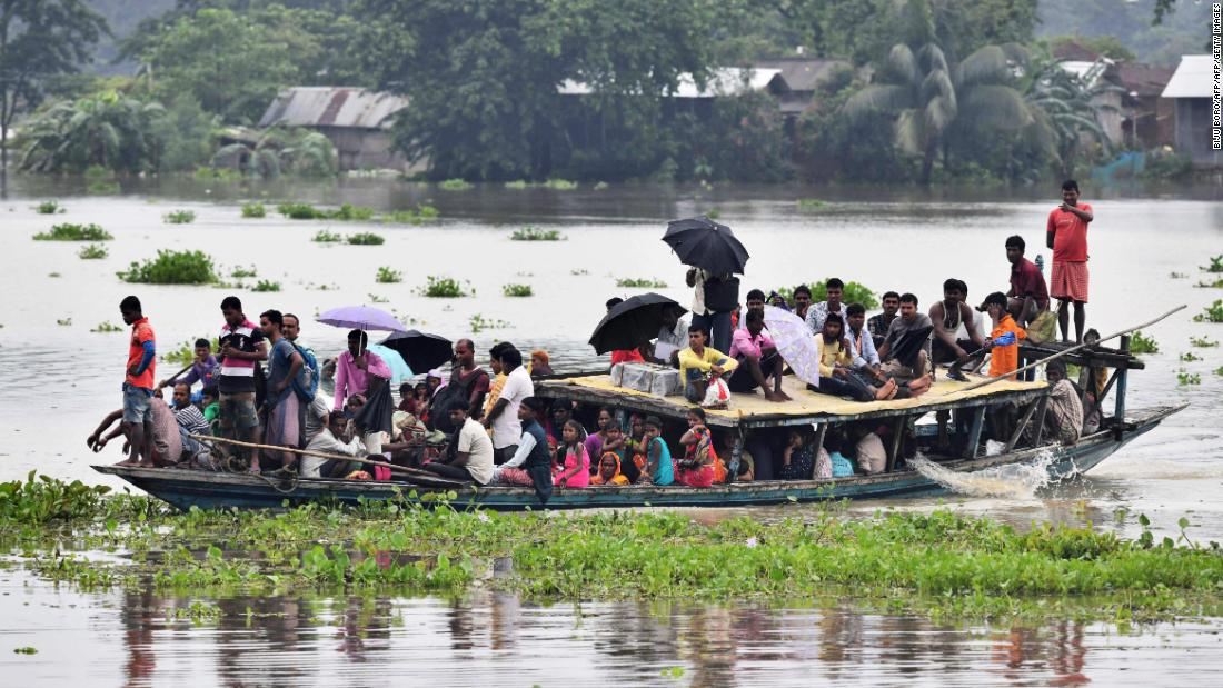 More than 100 dead and 6 million affected by flooding across South Asia