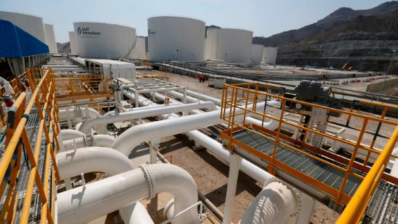 A picture shows a Gulf Petrochem storage terminal on the coast of the strategic emirate of Fujeirah, on the Arabian sea outside the Strait of Hormuz on February 27, 2013 in the United Arab Emirates. AFP PHOTO/KARIM SAHIB        (Photo credit should read KARIM SAHIB/AFP/Getty Images)