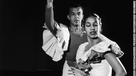 Carmen De Lavallade and James Truitt perform on stage in this undated photo.  (Howard Morehead/ Johnson Publishing Company)