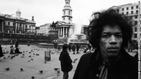 Rockstar Jimi Hendrix is photographed in London, England.