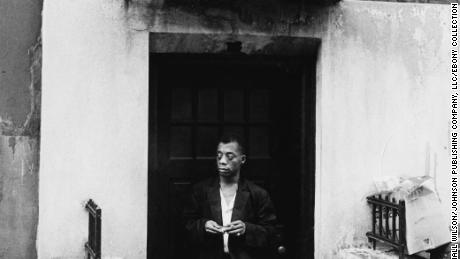 Author James Baldwin, photographed while leaving his home.