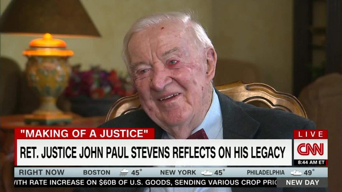 Dozens of former law clerks standing vigil for Justice John Paul Stevens as he lies in repose