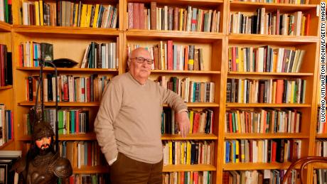 Italian writer Andrea Camilleri, photographed in Rome in 2011