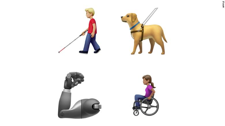 Apple submitted the proposal for more disability-inclusive emojis to the Unicode Consortium last year.