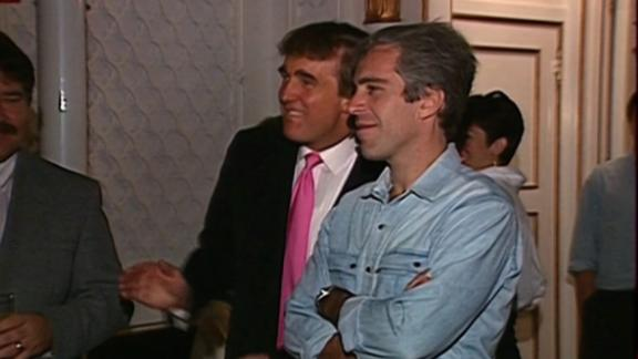 Donald Trump and Jeffrey Epstein, seen here at a 1992 party.