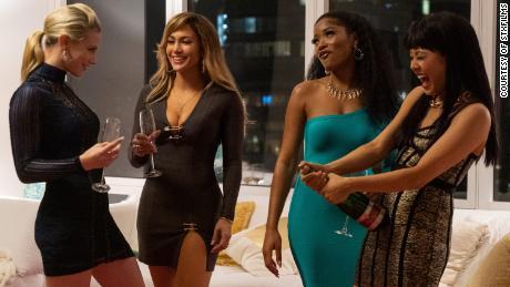 Lili Reinhart, Jennifer Lopez, Keke Palmer, and Constance Wu in 'Hustlers'