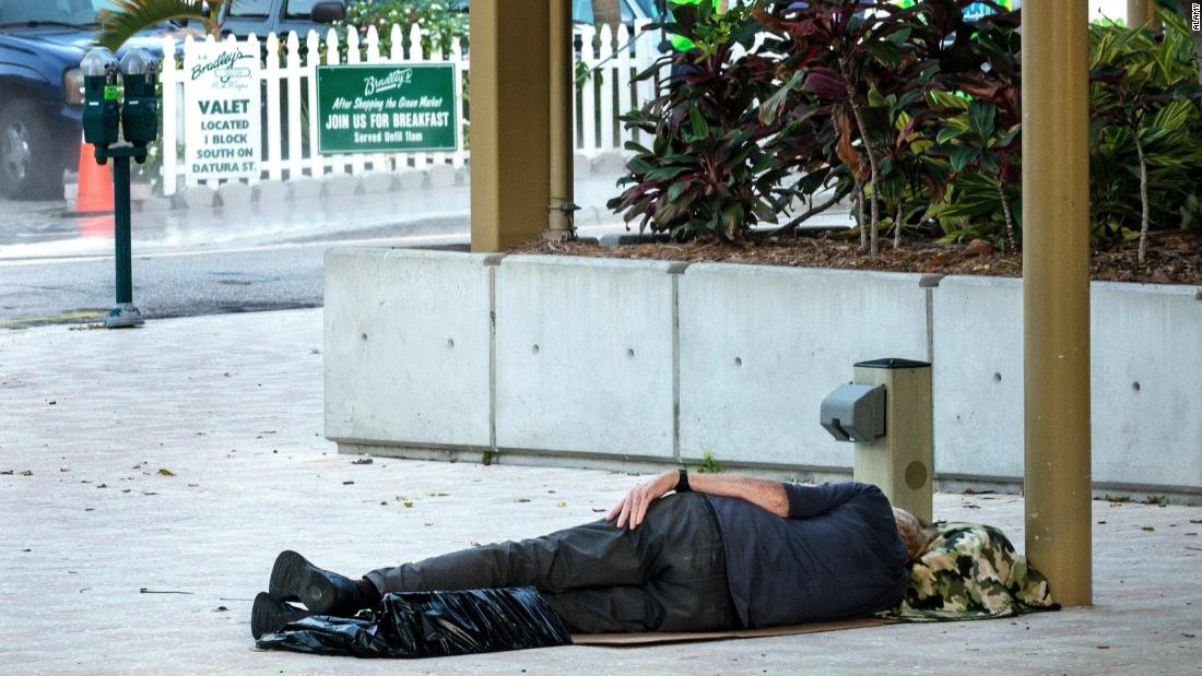 A Florida city blasts 'Baby Shark' overnight to deter homeless people from sleeping in a park