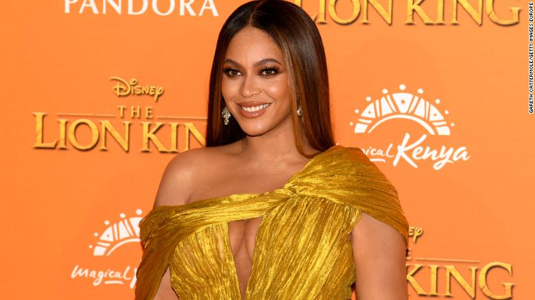 Beyoncé attends the European premiere of Disney's 'The Lion King.'