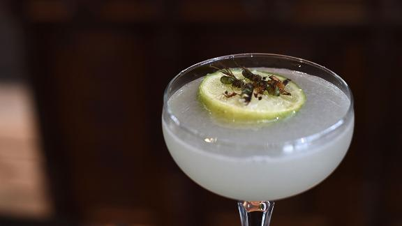 Edible winged ants are used to garnish margaritas at Insects in the Backyard, in Bangkok, Thailand, which specializes in insect cuisine.