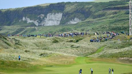 Royal Portrush is laid out on dramatic linksland next to the North Atlantic.