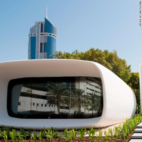 Dubai's 3D-printed Office of the Future was created by Chinese firm WinSun and opened in May 2016.