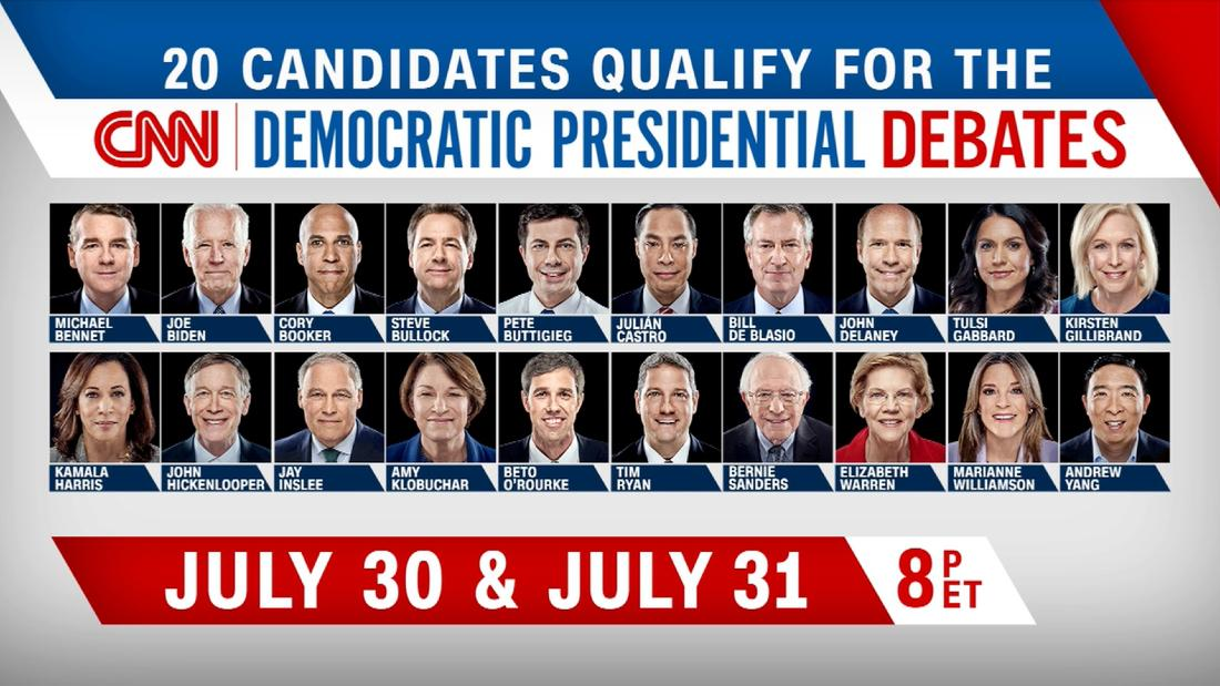 Here are the 2020 Democratic candidates who qualify for CNN's debate