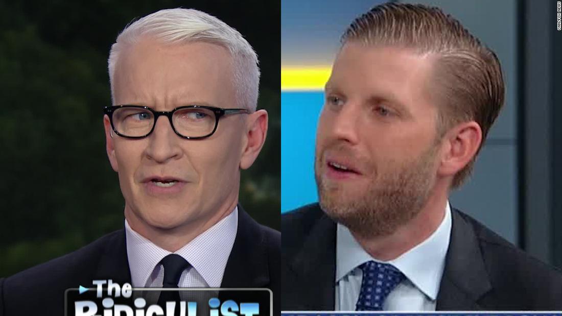 Cooper: Eric Trump's polling numbers contradicted dad's