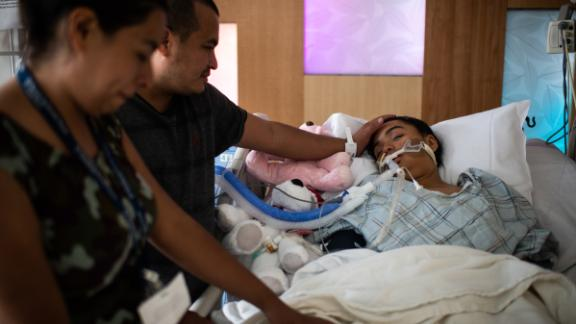 Gámez was at his daughter's bedside before she was taken off life support.