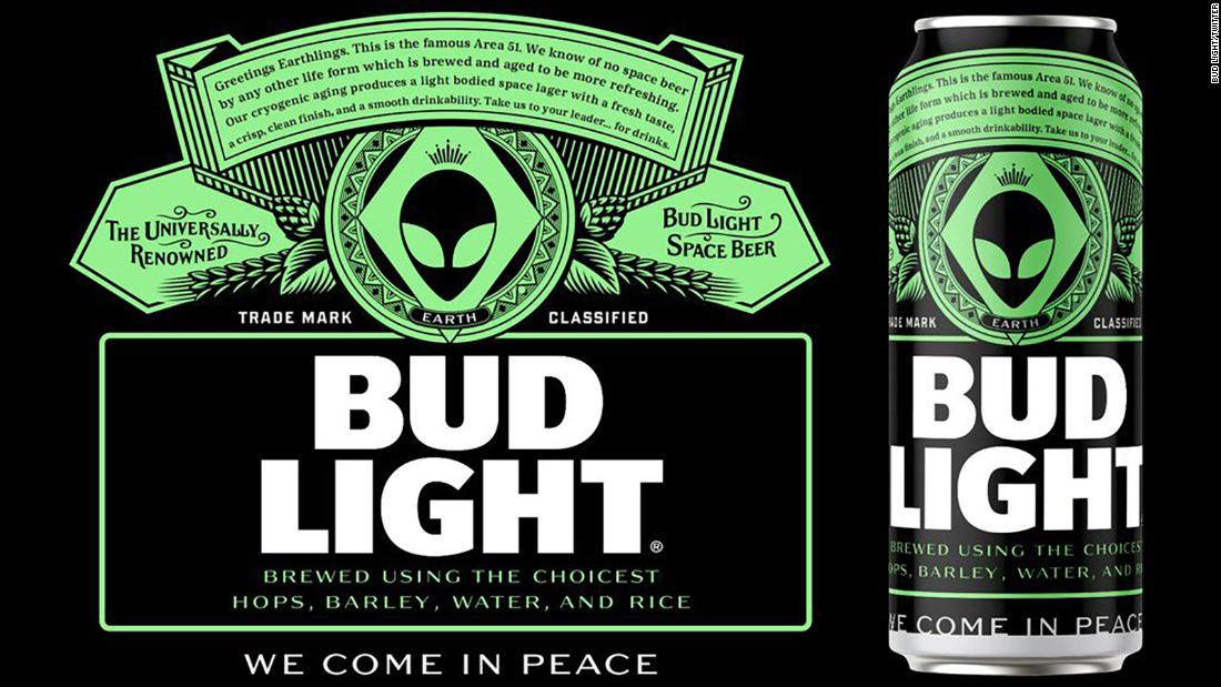 Area 51: Bud Light is offering free beer to any aliens that make it