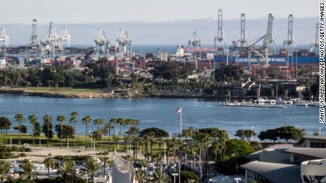 LONG BEACH, CA - MAY 4:  San Pedro harbor on May 4, 2017 in Long Beach, California. (Photo by Santi Visalli/Getty Images)