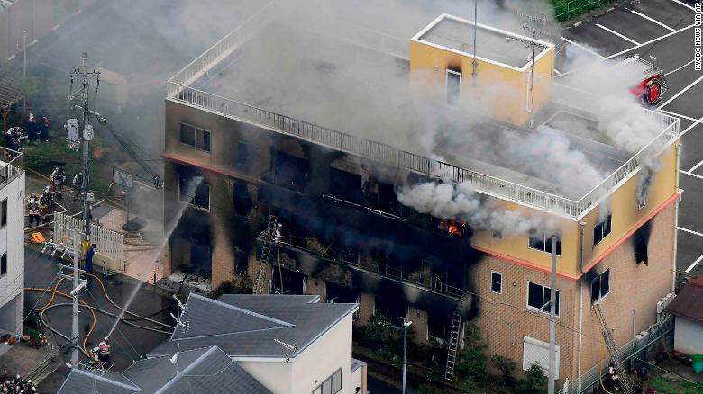 IMG KYOTO, Japan, Animation Studio Fire with 25 dead after Arson Attack