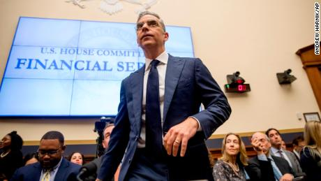 David Marcus, CEO of Facebook's Calibra digital wallet service, arrives for a House Financial Services Committee hearing on Facebook's proposed cryptocurrency on Capitol Hill in Washington, Wednesday, July 17, 2019.
