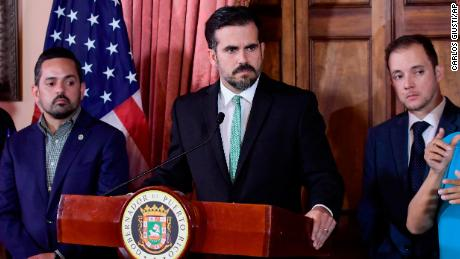 Rosselló called for a press conference after police clashed with demonstrators hours after the police clashed with demonstrators.