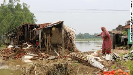 A devastated house in the Rautahat district of Nepal on July 17, 2019.