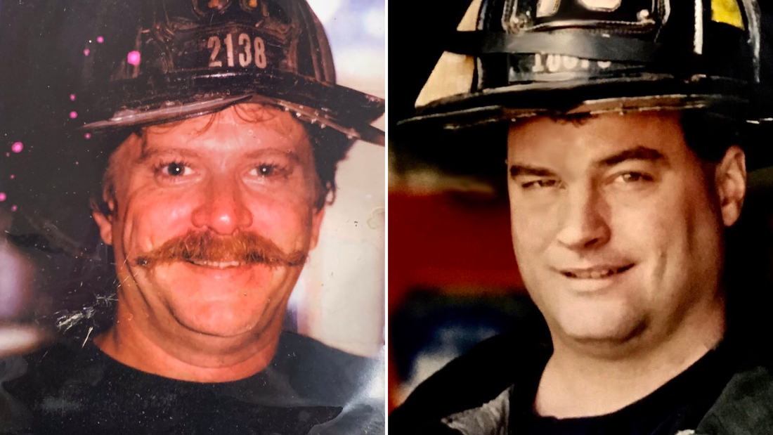 "New York Mayor Bill de Blasio tweeted images of  FDNY firefighters Richard Driscoll and Kevin Nolan, saying, ""200 members of the FDNY have now succumbed to WTC-related illness. They didn"