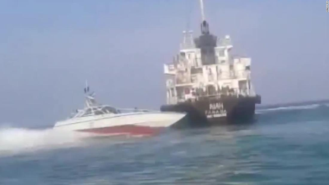 Video purports to show Iran seizing tanker