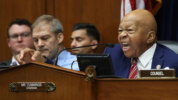 "WASHINGTON, DC - JULY 18:  Committee Chairman Rep. Elijah Cummings (D-MD) questions acting Homeland Security Secretary Kevin McAleenan while he testifies before the House Oversight and Reform Committee on July 18, 2019 in Washington, DC. The hearing is on ""The Trump Administration's Child Separation Policy.""  (Photo by Win McNamee/Getty Images)"