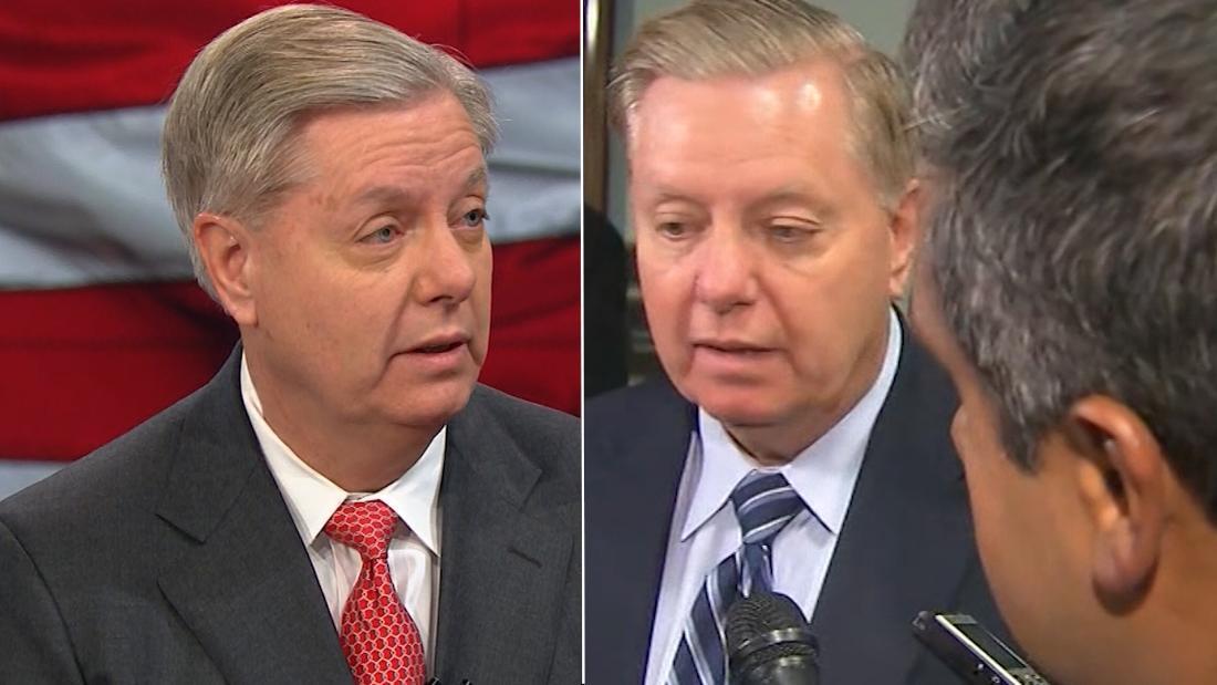 Watch Lindsey Graham flip on calling Trump racist