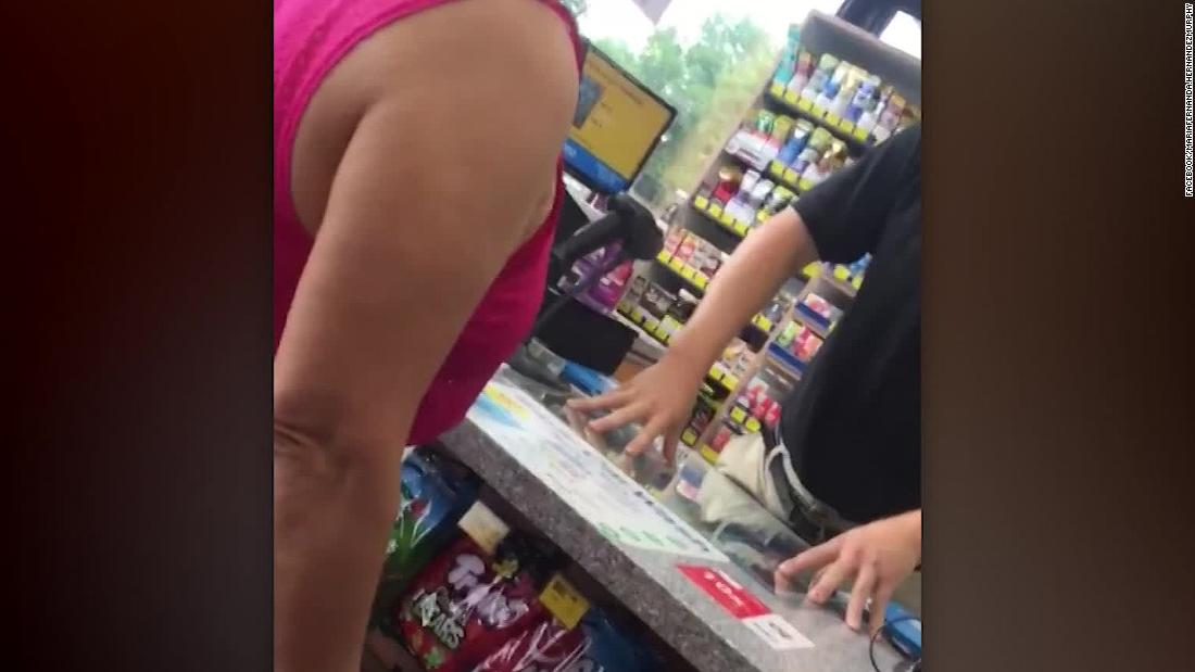 Convenience store clerk says customers 'need to go back to their country' in video confrontation