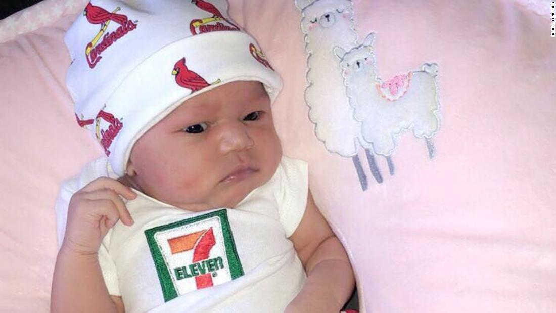 7-Eleven pledges $7,111 to college fund of baby born on 7-11 at 7:11 pm, weighing 7 pounds and 11 ounces