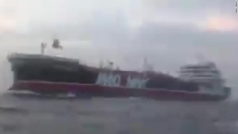 New audio reveals moments leading up to tanker's seizure