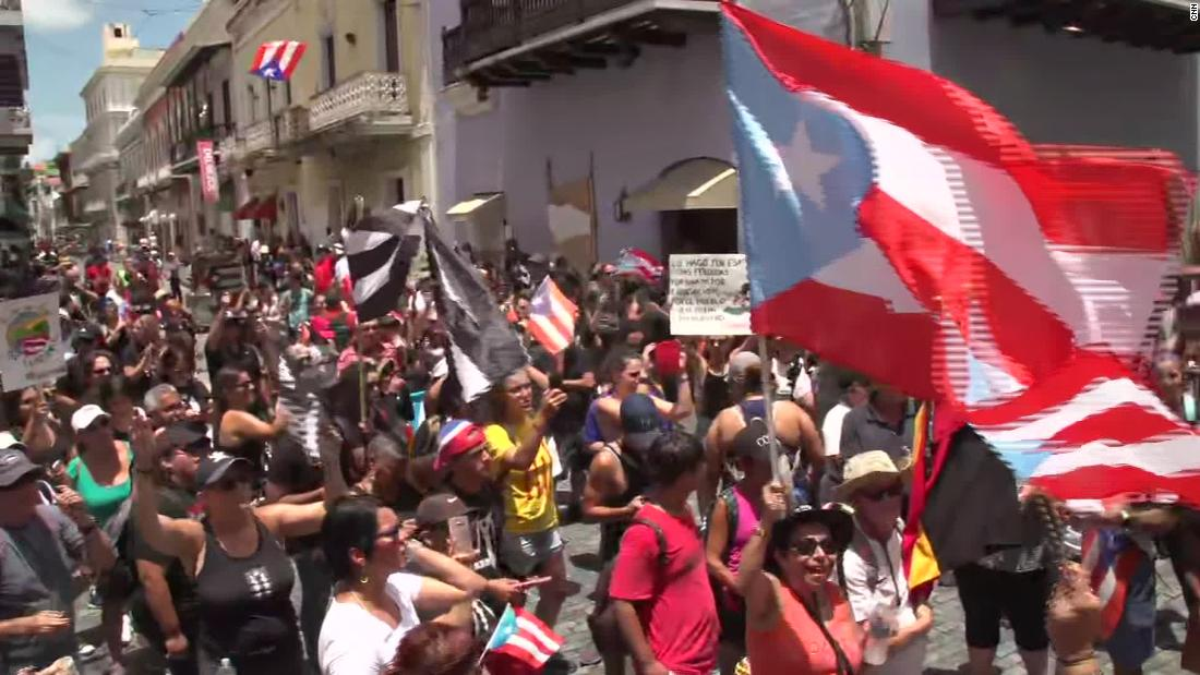 Protesters bang pots and pans outside Puerto Rico governor's mansion