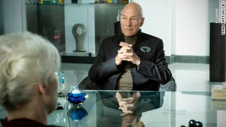 """Star Trek: Picard"" showrunners unveiled a new trailer for the Patrick Stewart-starring series at San Diego Comic-Con on Saturday."