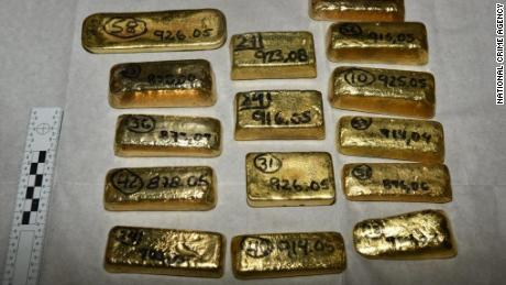 104 kg of gold was seized at London's Heathrow Airport, worth around $5 million.