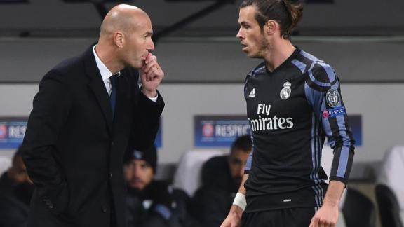 Zinedine Zidane (left) said Gareth Bale was on his way out of Real Madrid.