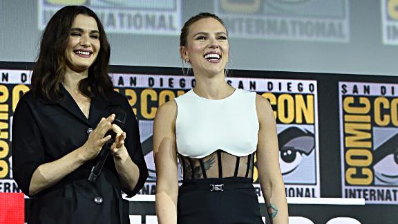 Rachel Weisz and Scarlett Johansson of Marvel Studios