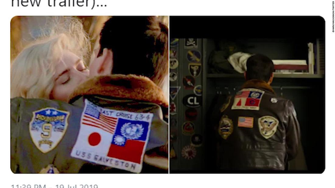 Tencent-backed 'Top Gun' cuts Taiwan flag from Tom Cruise's jacket