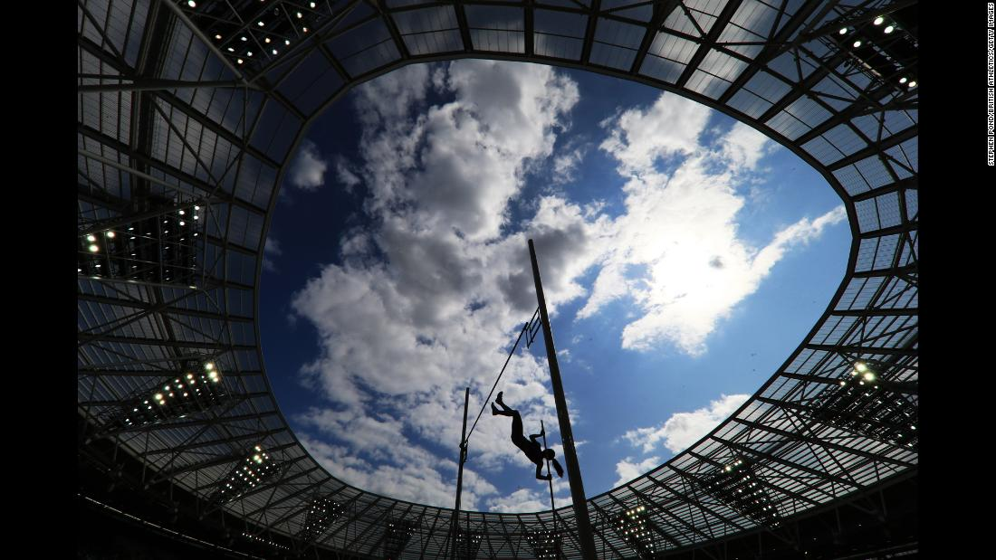 Katerina Stefanidi of Greece competes in the Women's Pole Vault during Day One of the Muller Anniversary Games in London on July 20.