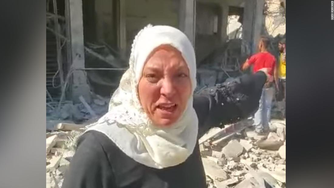 American woman begs for Trump's help amid Syrian rubble