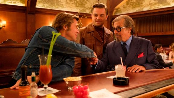 Brad Pitt, Leonardo DiCaprio and Al Pacino in 'Once Upon a Time ... in Hollywood'