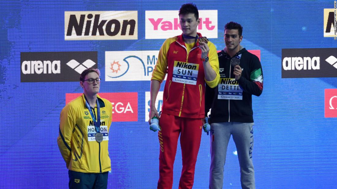 Chinese swimmer Sun Yang to rival Mack Horton: 'You must respect China'