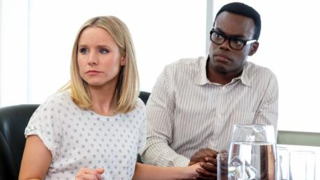 Kristen Bell and William Jackson Harper in 'The Good Place'