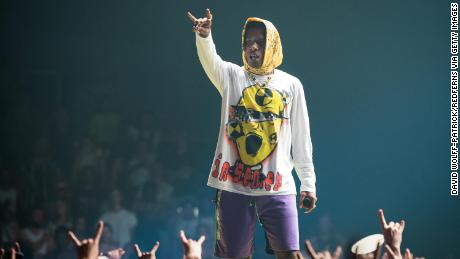 PARIS, FRANCE - JUNE 27:  A$AP Rocky performs at Le Zenith on June 27, 2019 in Paris, France.  (Photo by David Wolff - Patrick/Redferns)