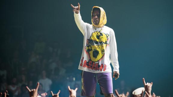 PARIS, FRANCE - JUNE 27:  A$AP Rocky performs at Le Zenith on June 27, 2019 in Paris, France.  (Photo by David Wolff - Patrick/Redferns)