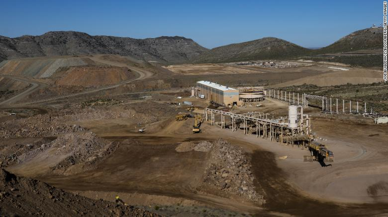 An ore crushing station stands at the Mountain Pass mine, operated by MP Materials, in Mountain Pass, California, U.S., on Friday, June 7, 2019.